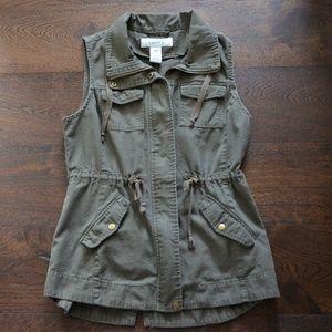 Nordstrom Sebby Olive Green Women's Vest Size M